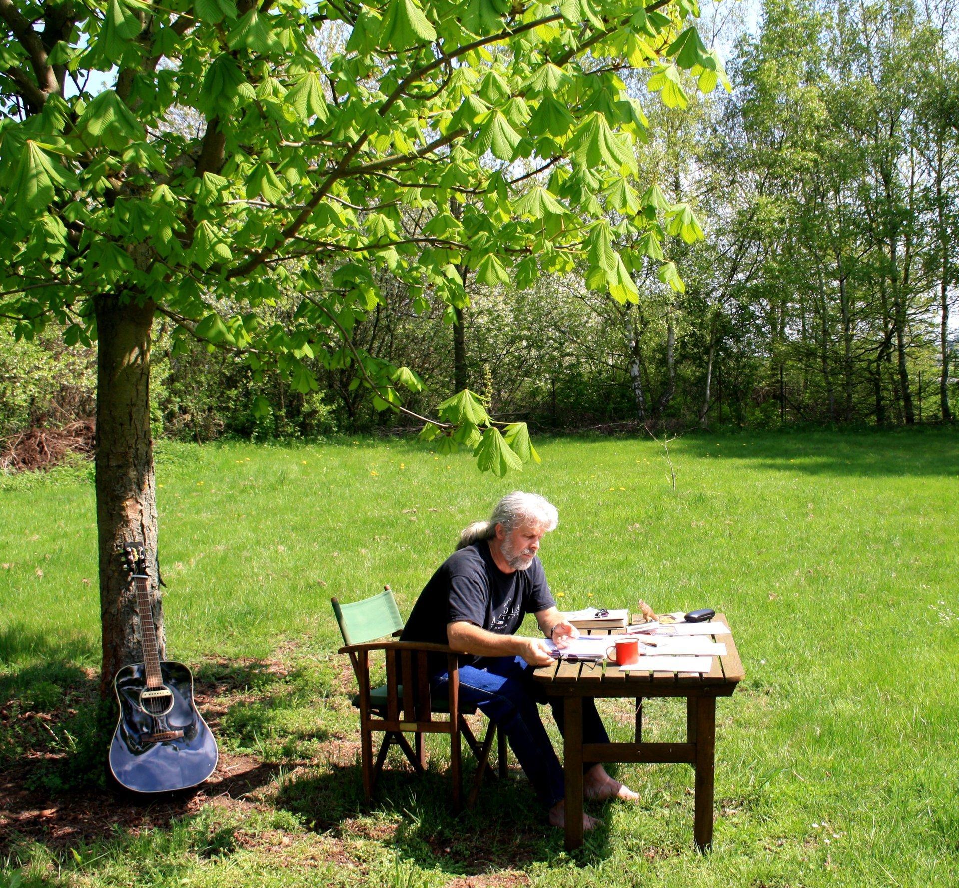Klaus im Garten