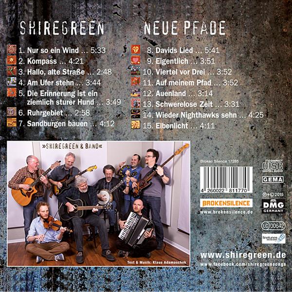 Shiregreen Neue Pfade CD Track-Liste