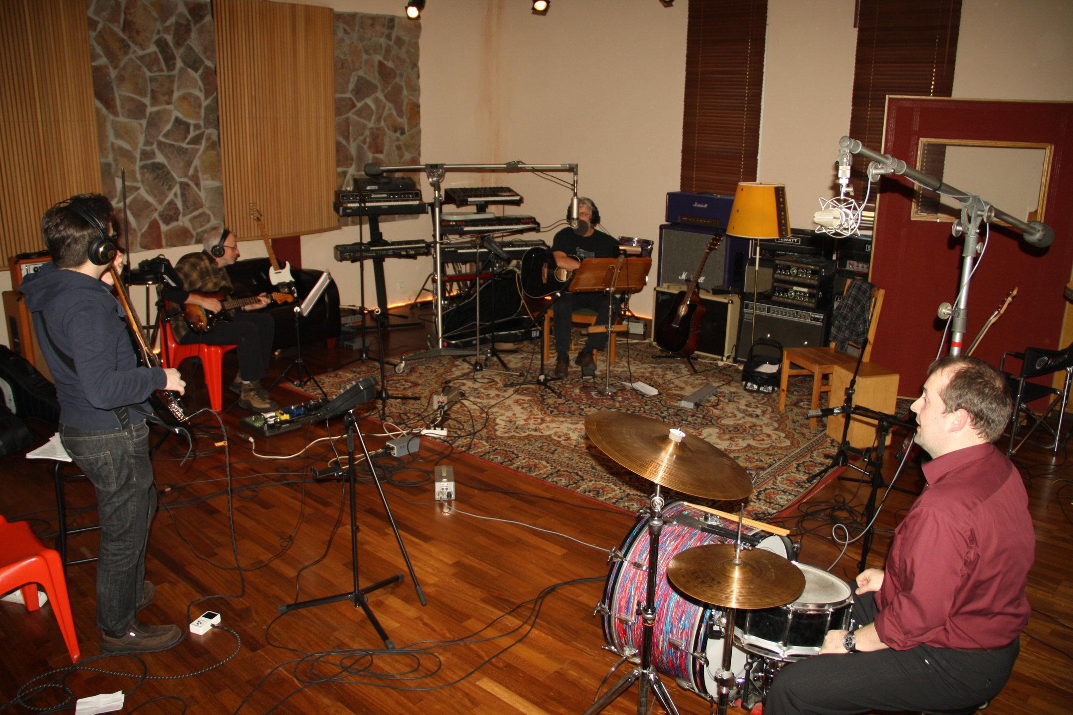 Bandaufnahmen im Studio