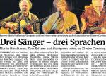 Drei Sänger - Drei Sprachen