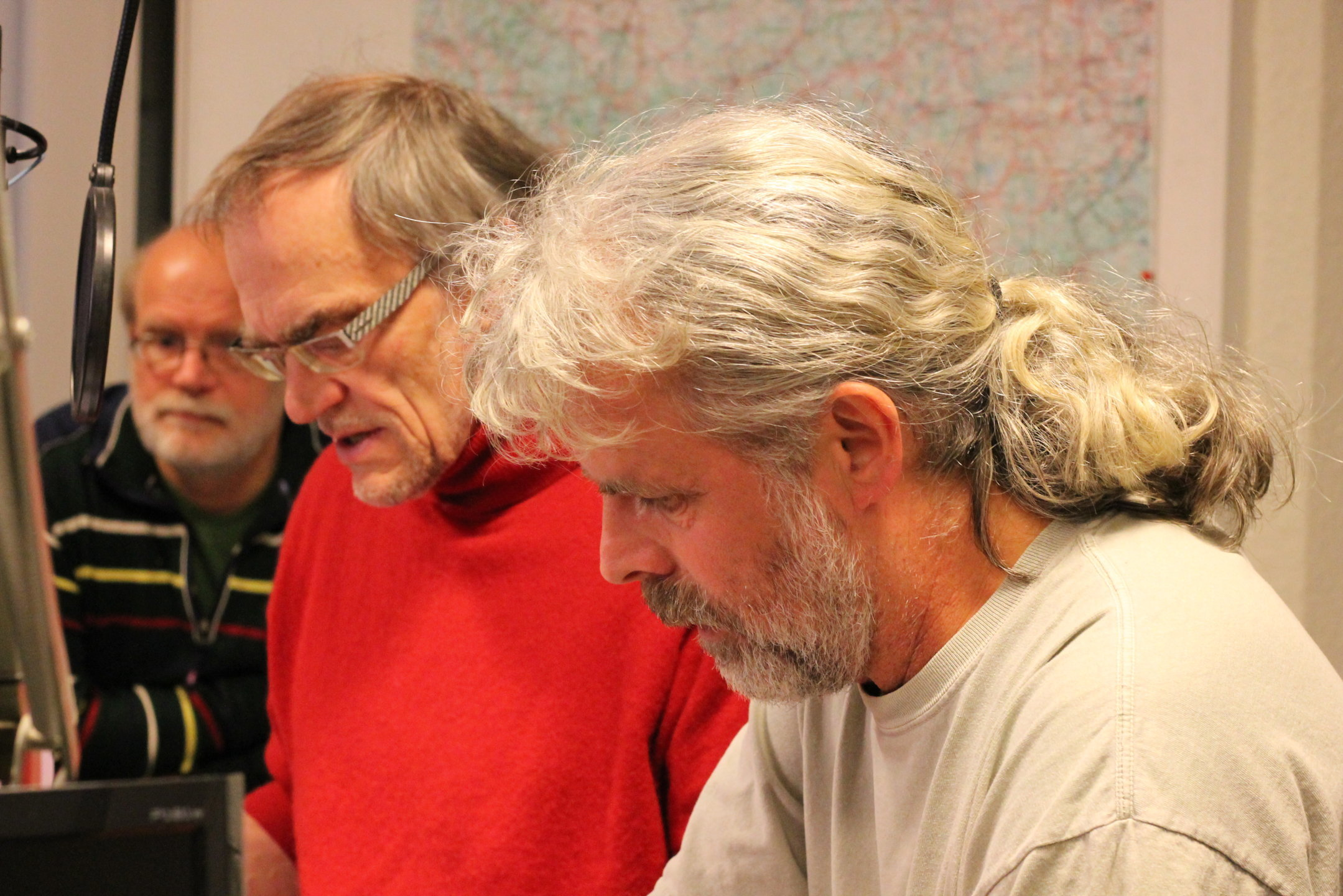 Shiregreen_Abstimmung im Studio mit Doc Schulze