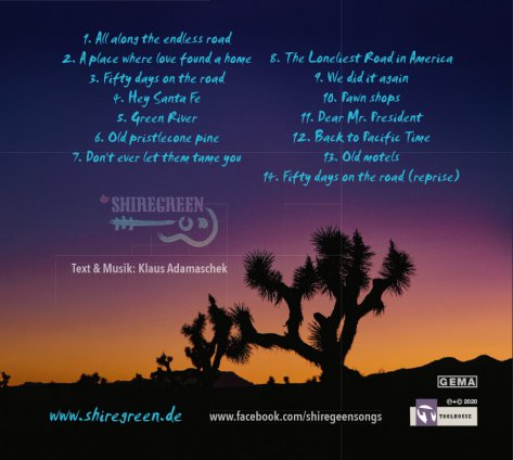 fifty_days_on_the_Road_Shiregreen_USA_2019_tracklist